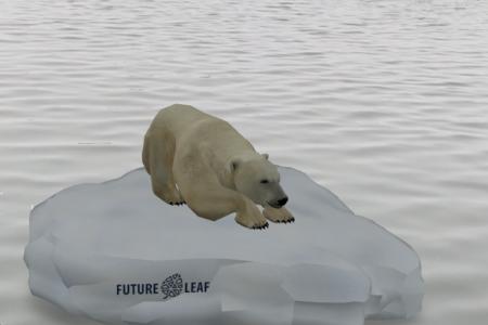 Future Leaf Eisbär auf dem Wannsee