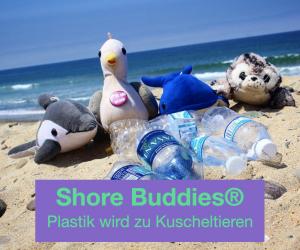 Widget Shore Buddies Plastik wird zu Kuscheltieren